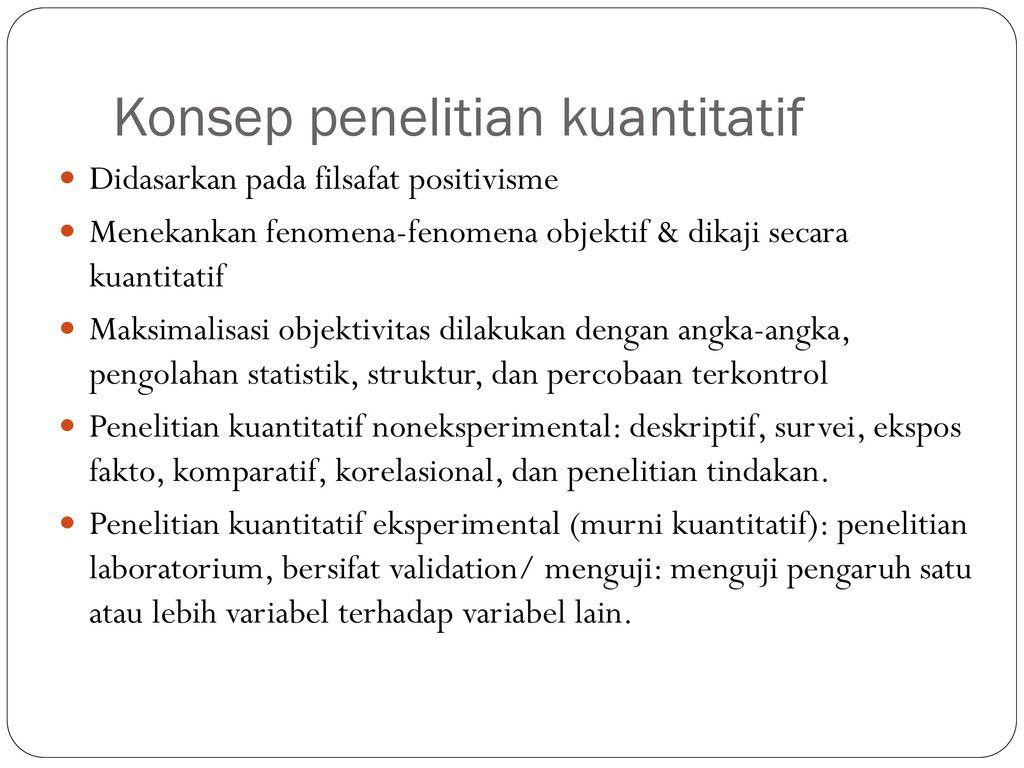 Penelitian Kuantitatif Ppt Download