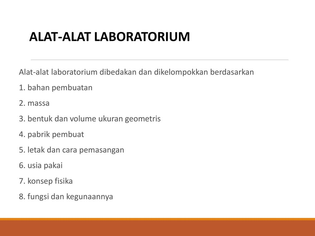 Bahan Habis Dan Alat Alat Laboratorium Ppt Download
