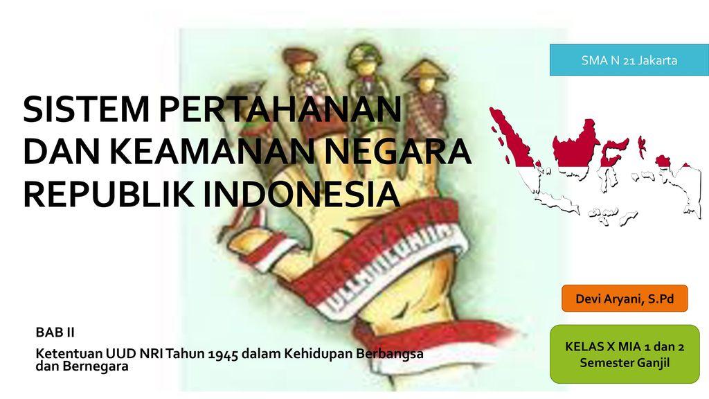 Sistem Pertahanan Dan Keamanan Negara Republik Indonesia Ppt Download