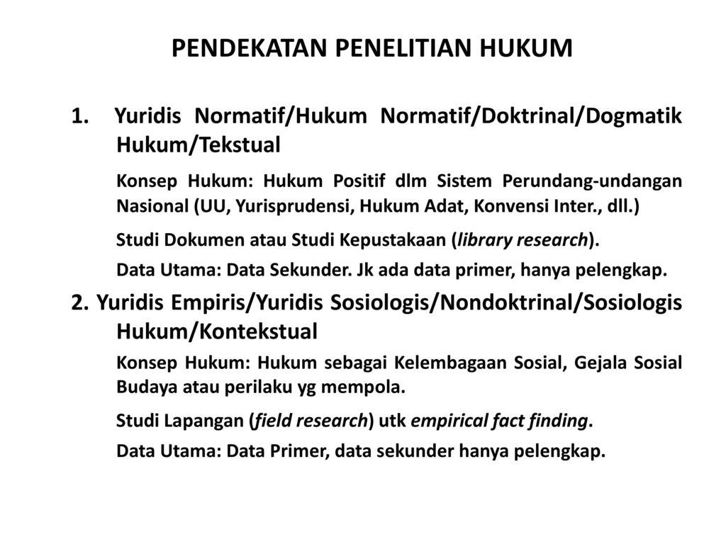 Metodologi Penelitian Hukum Kuliah Iii Ppt Download