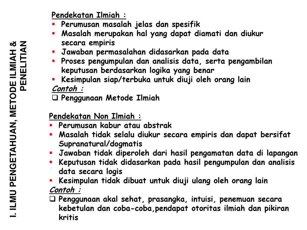 Metode Ilmiah Dan Penelitian Ppt Download