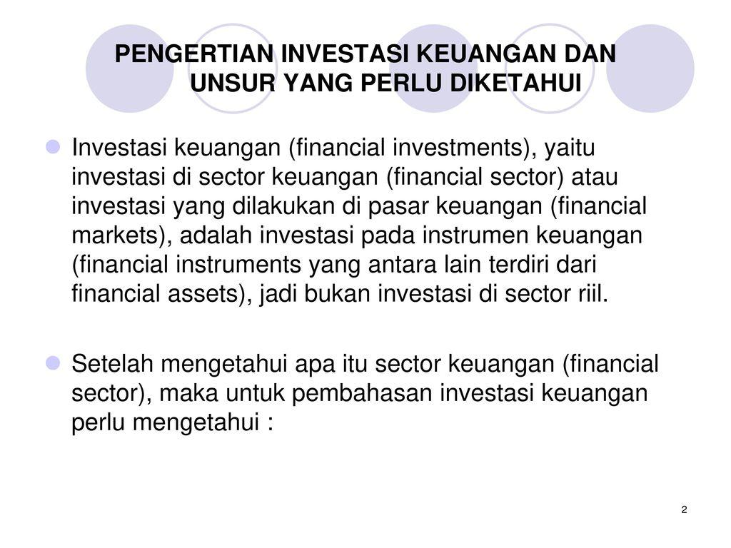 Jenis Pasar Keuangan (Financial Market) - PINTERPandai