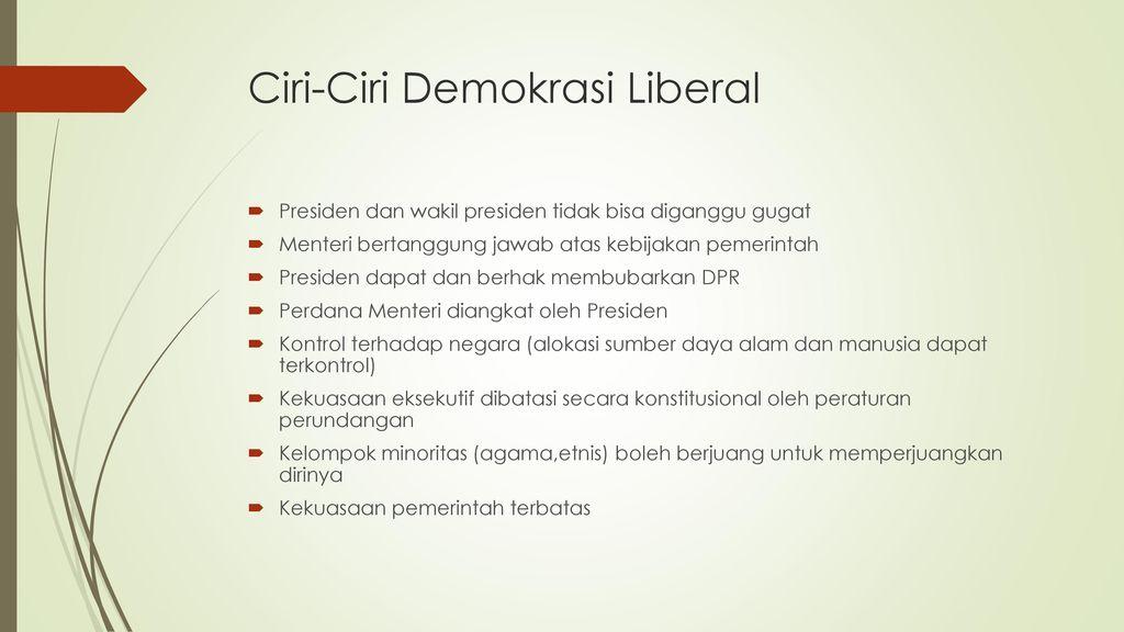 Indonesia Masa Demokrasi Liberal Ppt Download