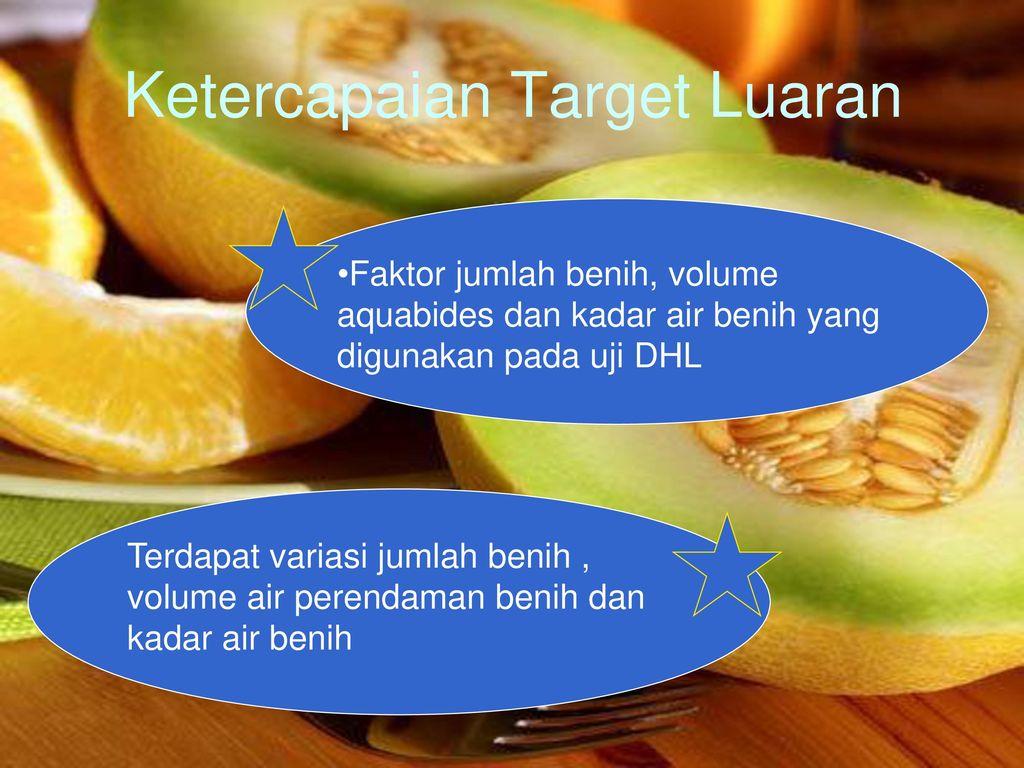 Studi Daya Hantar Listrik Pada Benih Melon Cucumis Melo L Ppt Aquabides 16 Ketercapaian Target Luaran