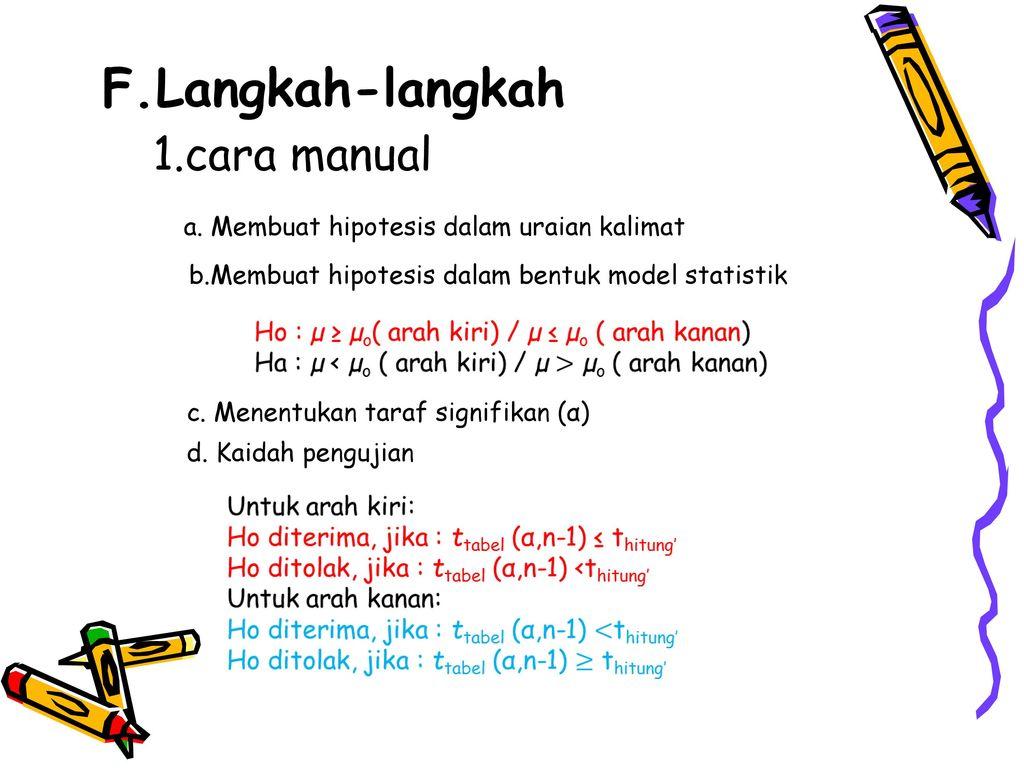 Uji T Untuk Satu Sampel Oleh Kelompok 2 Mahfud Sirojudin Ppt Download