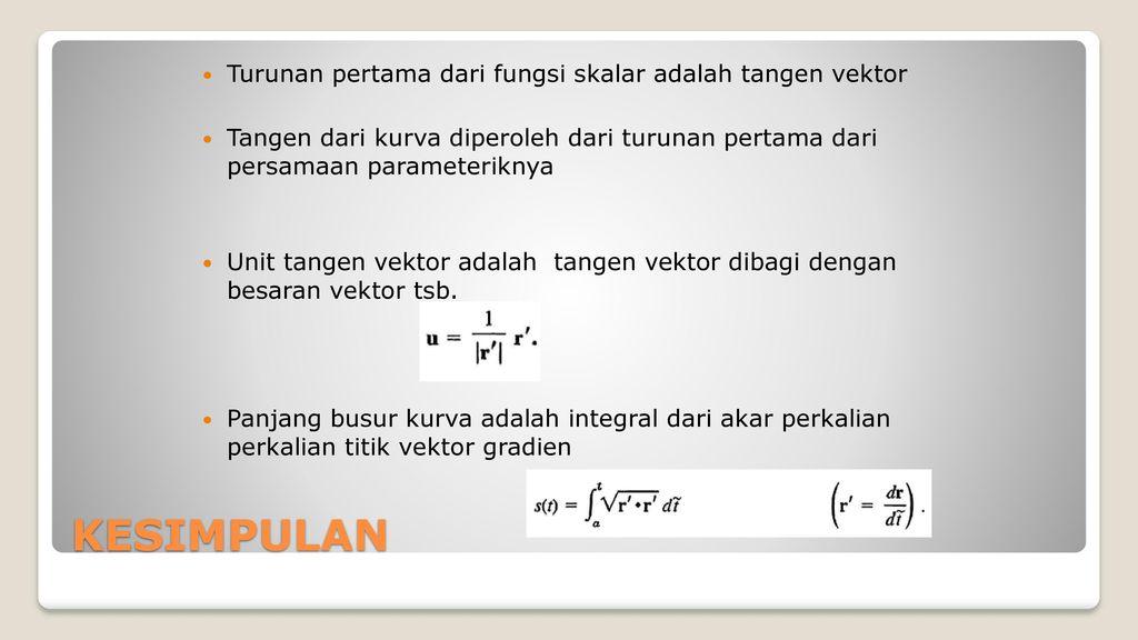 Diferensial Vektor Kuliah 2 Ppt Download