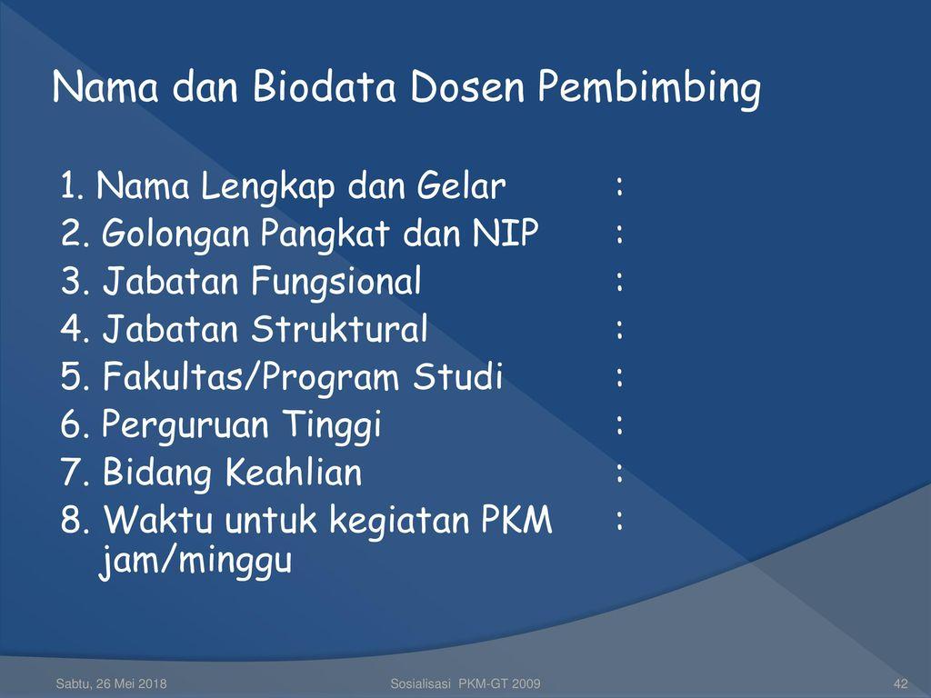 Strategi Penyusunan Proposal Program Kreativitas Mahasiswa Pkm