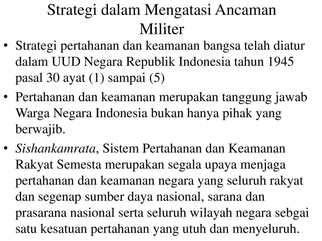 Strategi Dalam Mengatasi Ancaman Integrasi Nasional Ppt Download
