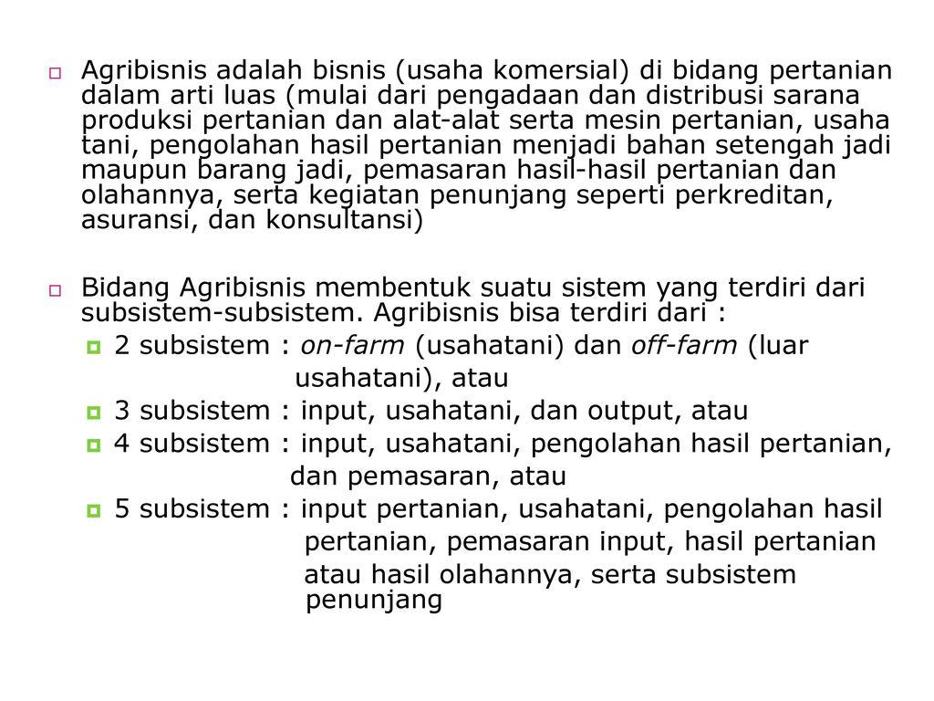Pertanian Dan Perdesaan Ppt Download