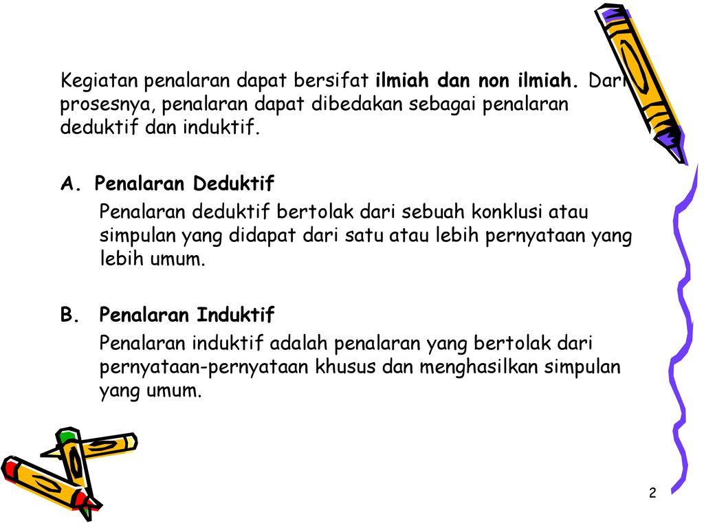 Penalaran Deduktif Dan Induktif Ppt Download