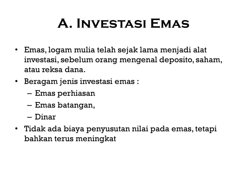 Investasi Diperlukan Bagi Mereka Yang Bergerak Dalam Pengembangan