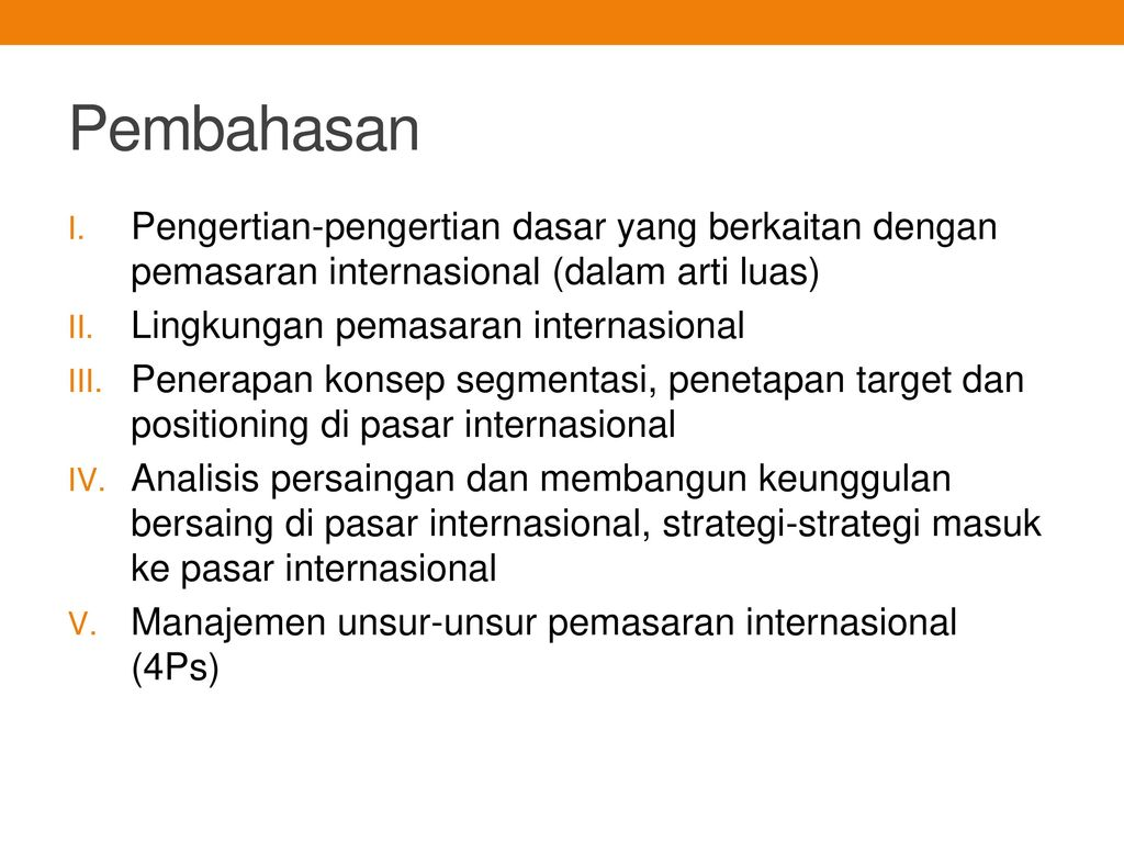 Pemasaran Internasional