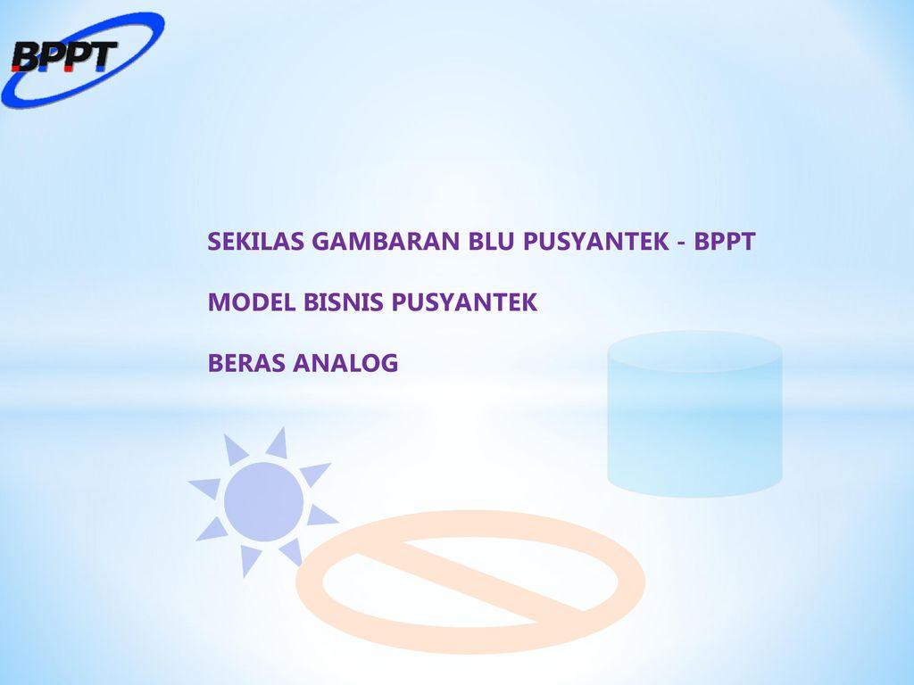 Pusat Pelayanan Teknologi Bppt Ppt Download Beras Analog 2 Sekilas Gambaran Blu Pusyantek Model Bisnis