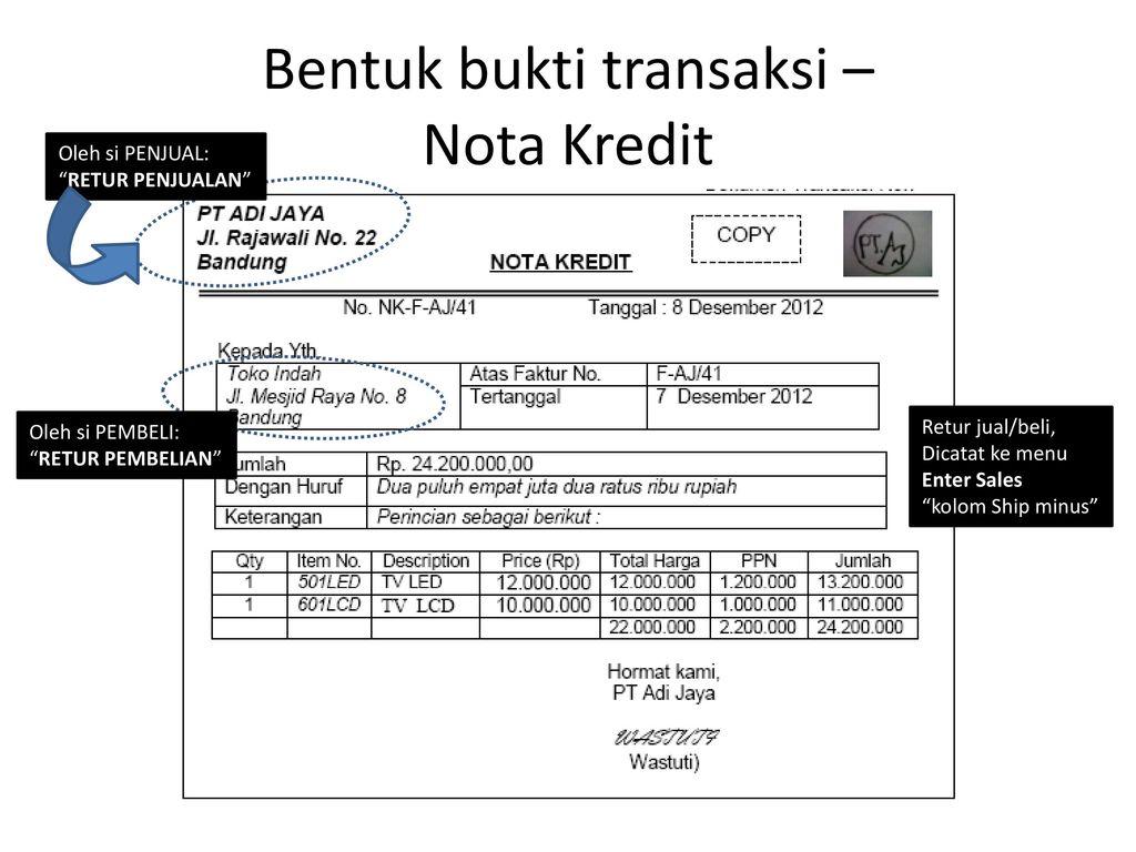 Analisis Bukti Transaksi Myob Accounting 18 Education