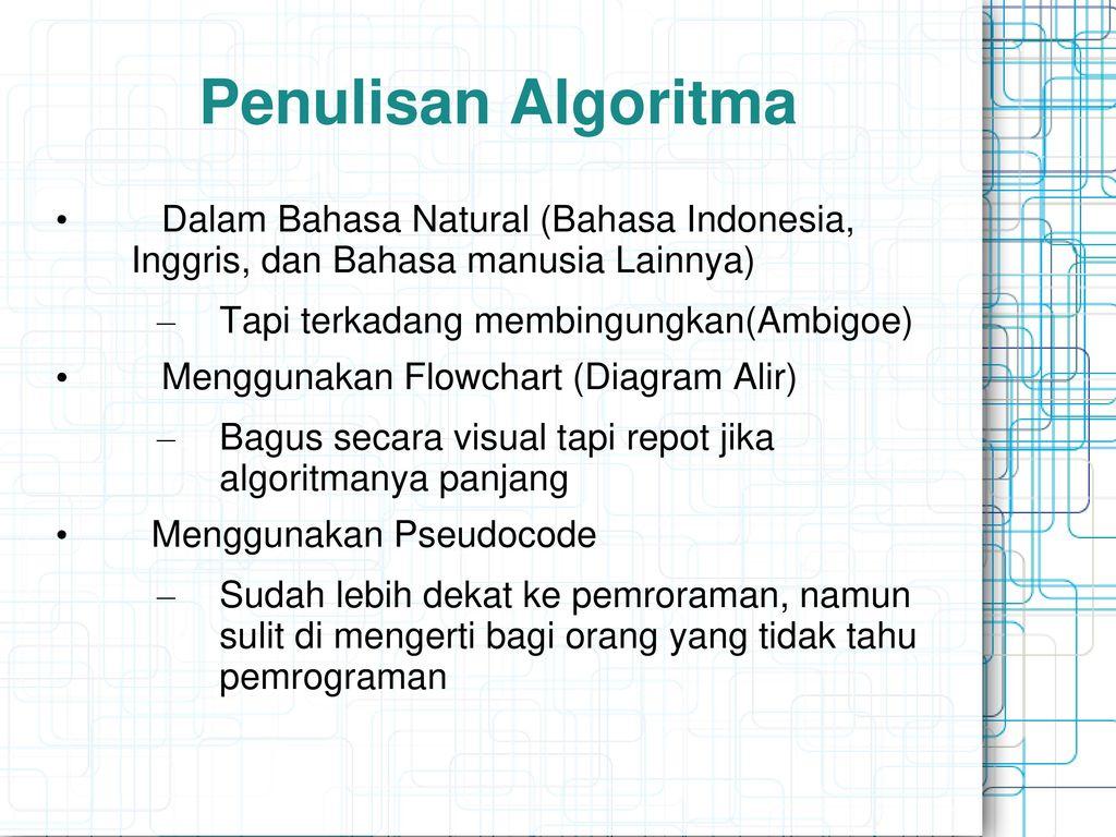 Pengenalan algoritma pemrograman ppt download 13 penulisan ccuart Choice Image