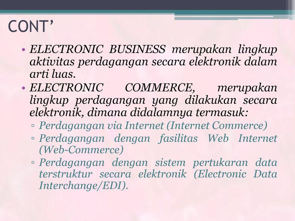 makna sistem perdagangan berbasis layar