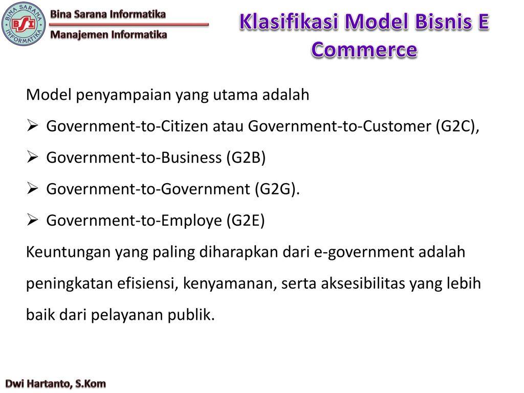 Dwi Hartanto S Kom E Commerce Pertemuan Ppt Download
