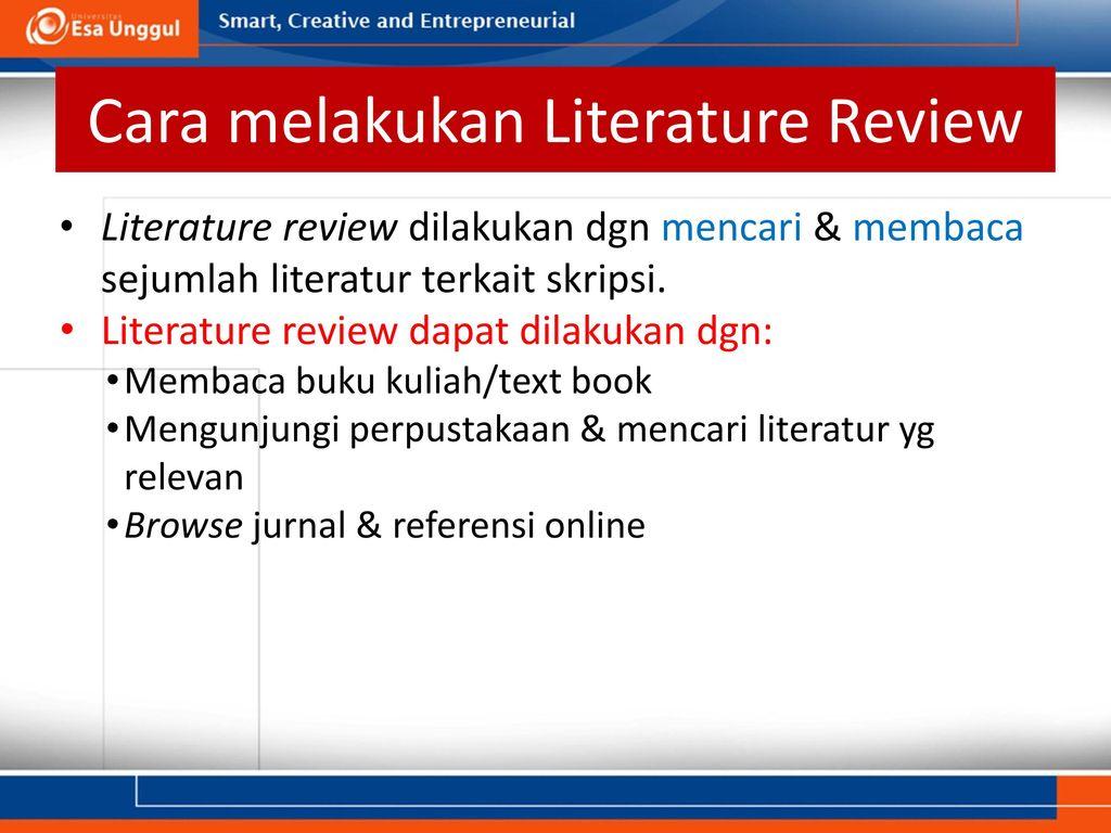 Literature Review Tinjauan Kepustakaan Ppt Download
