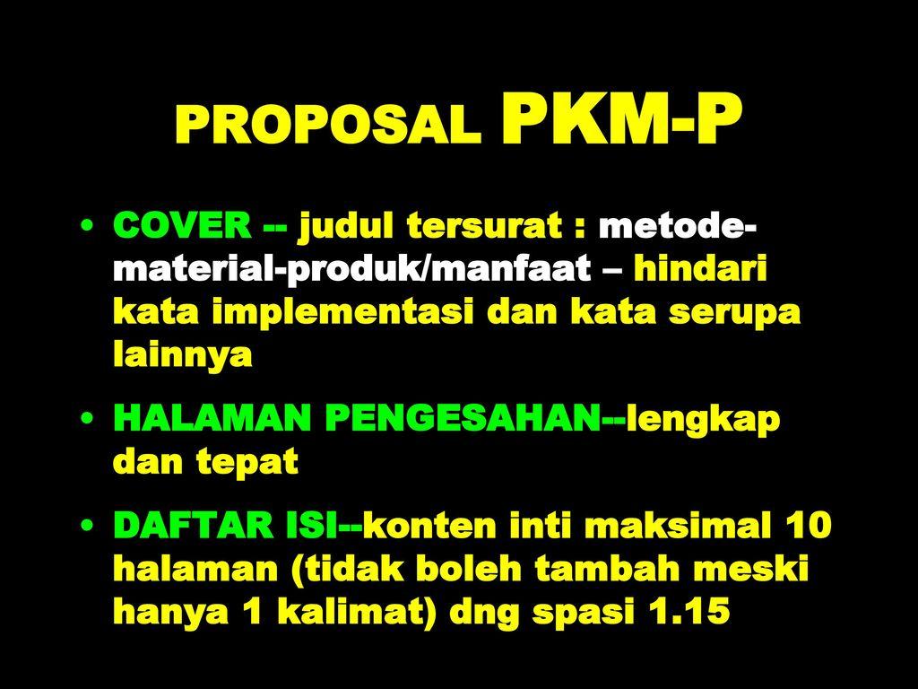 Sosialisasi Pkm P Pkm Ai Pkm Gt Tahun Ppt Download