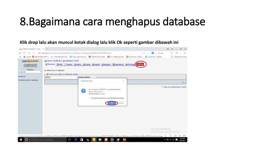 tugas cara membuat database dengan