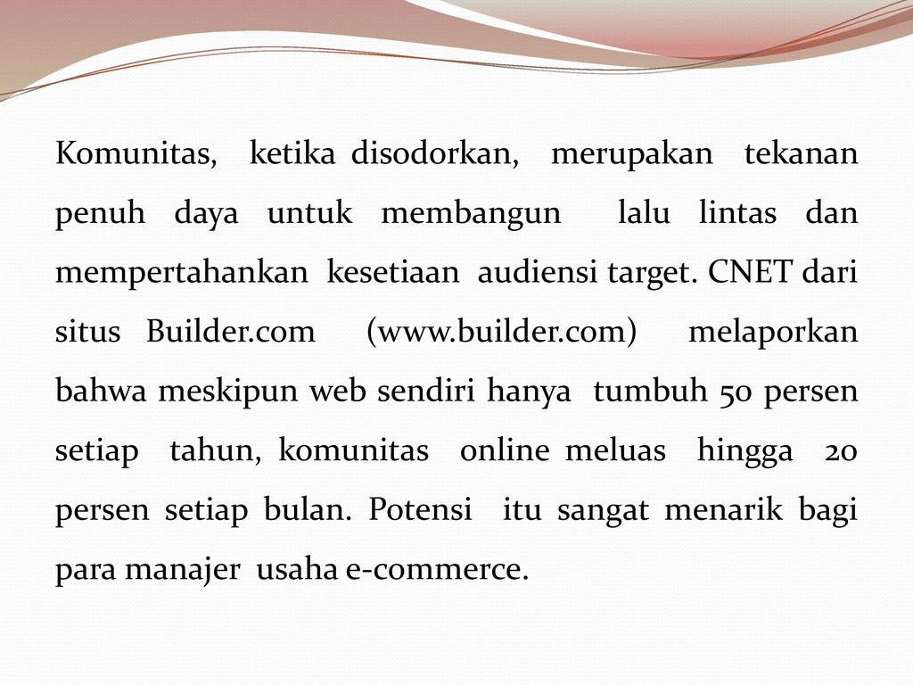 Membangun Lalu Lintas Dan Komunitas Ppt Download