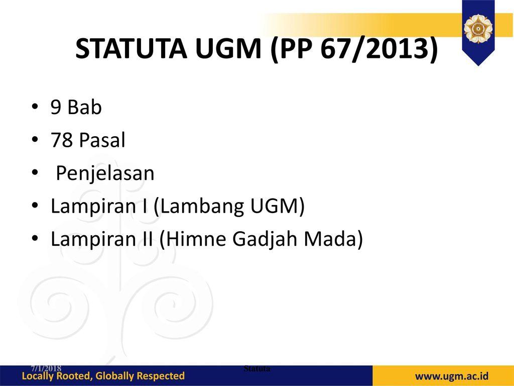 STATUTA+UGM+%28PP+67%2F2013%29+9+Bab+78+Pasal+Penjelasan