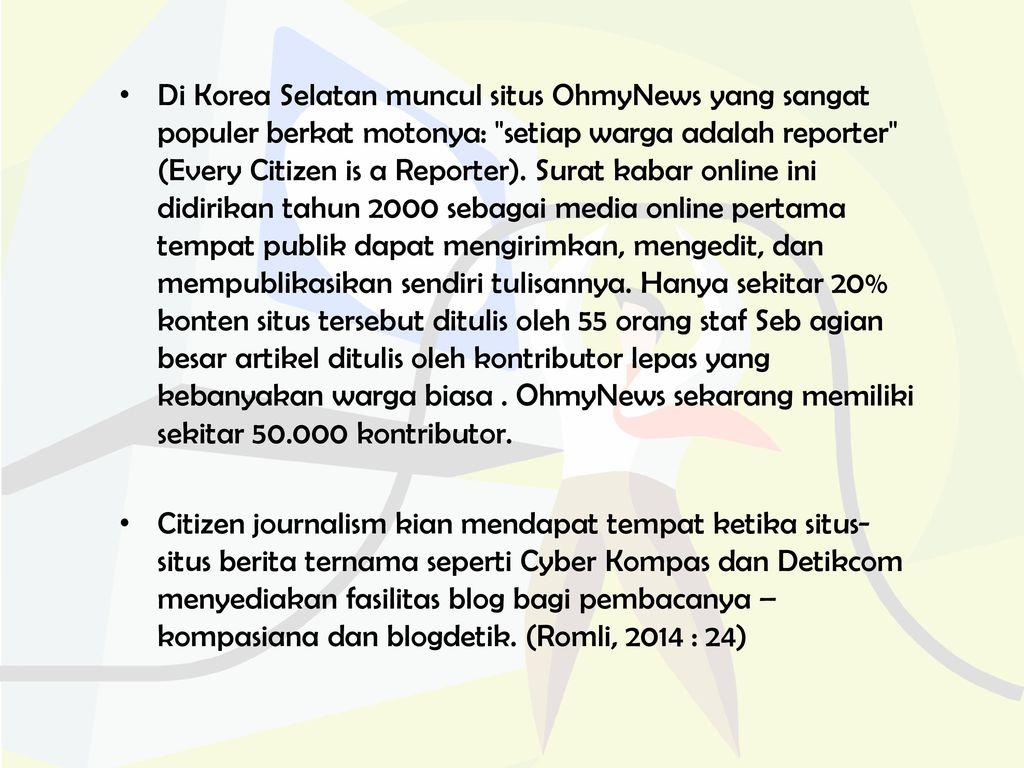 Munculnya Citizen journalism: ANTARA demokratisASi DAN lanskap ...