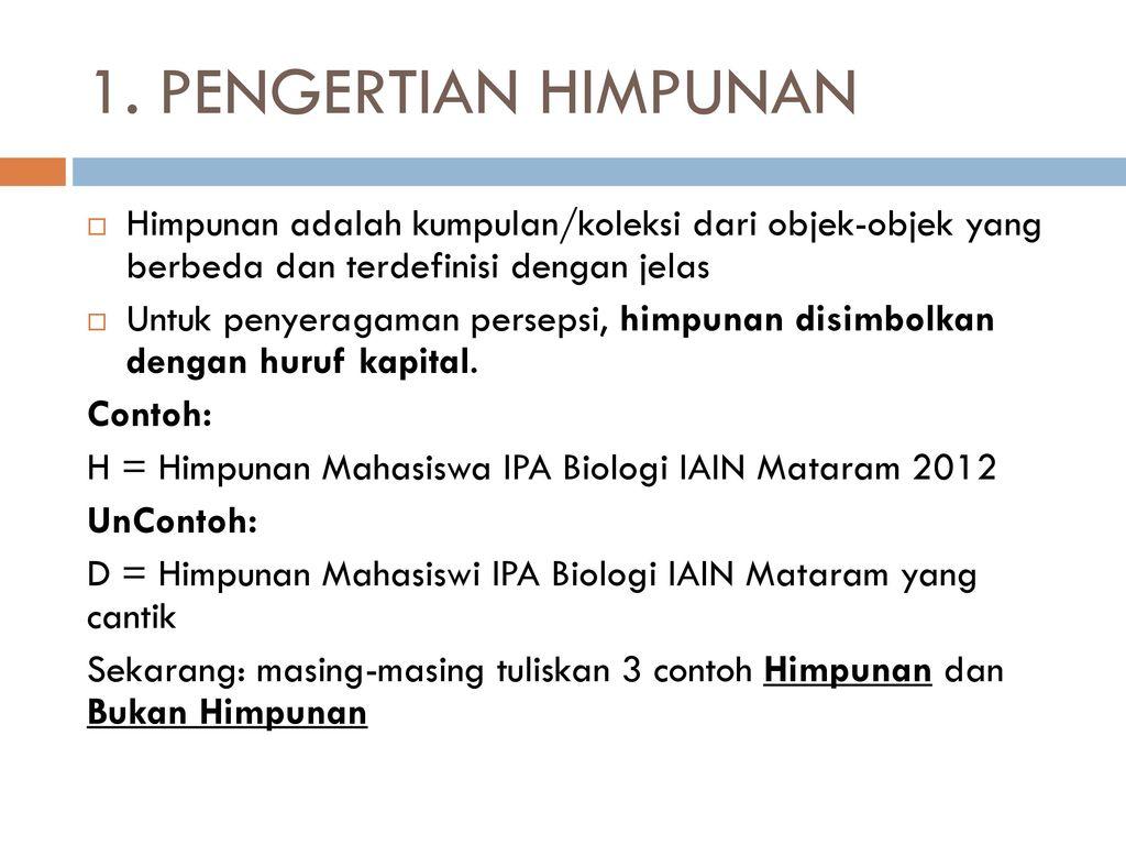 Himpunan Ripai S Pd M Si Ppt Download