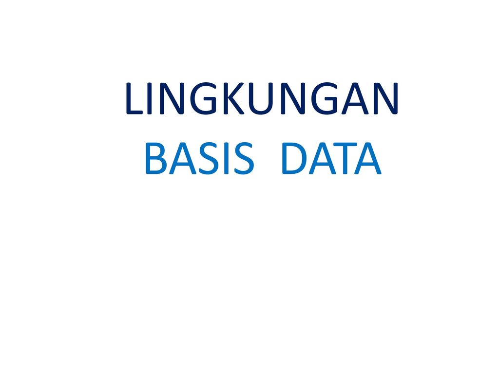 LINGKUNGAN BASIS DATA EPUB