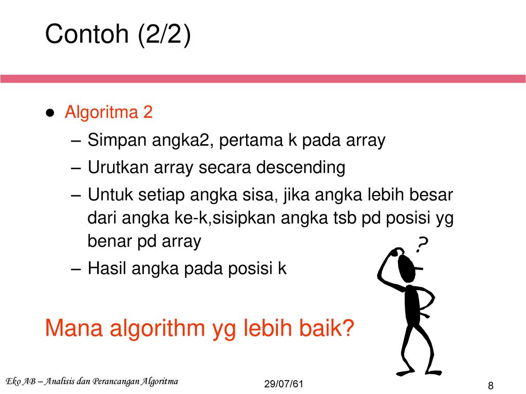 Strategi Algoritma Kuliah 3 Algoritma Efisien Ppt Download