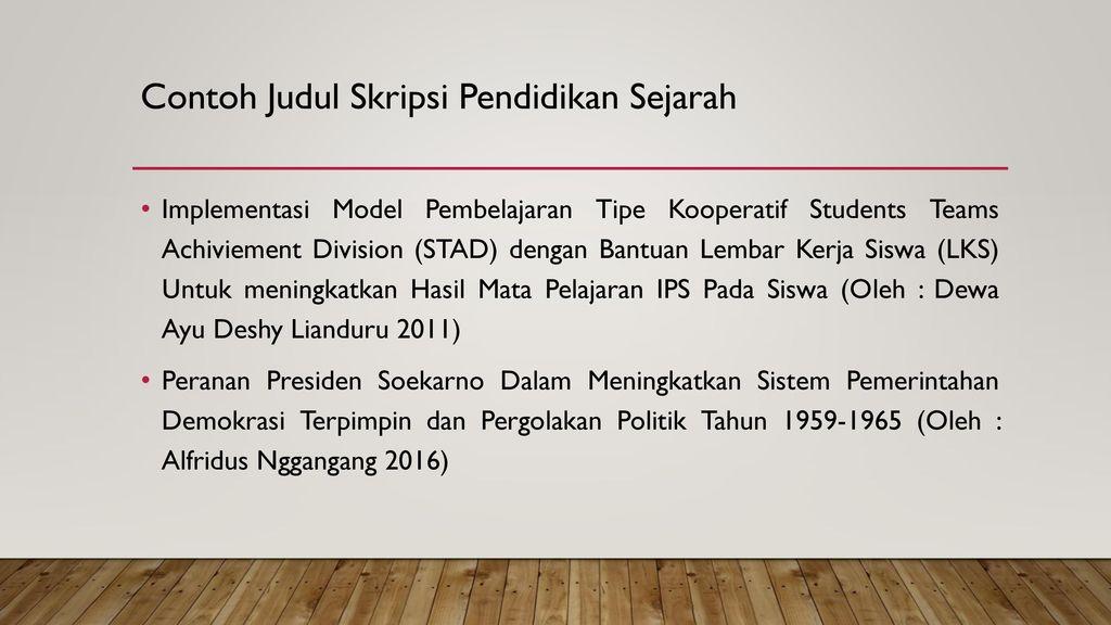 Seminar Pendidikan Sejarah Ppt Download