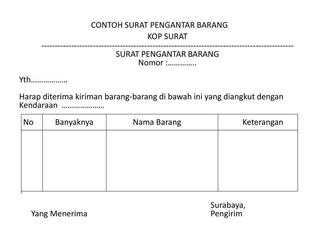 Chapter Surat Pesanan Ppt Download