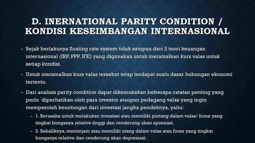 V. HUBUNGAN PARITAS INTERNASIONAL DAN PERAMALAN KURS VALAS - ppt download