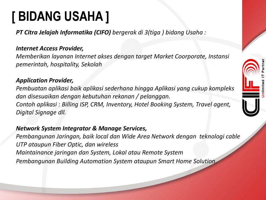 Pt Citra Jelajah Informatika Ppt Download