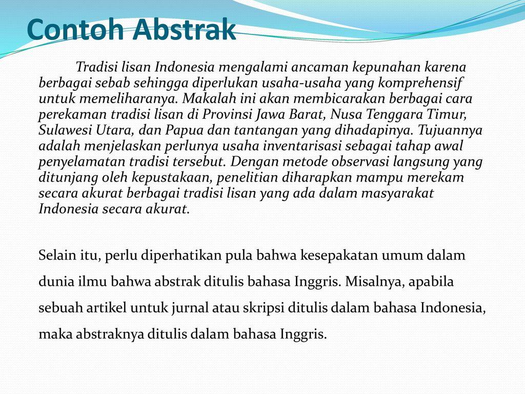 Ringkasan Abstrak Dan Sintesis Ppt Download