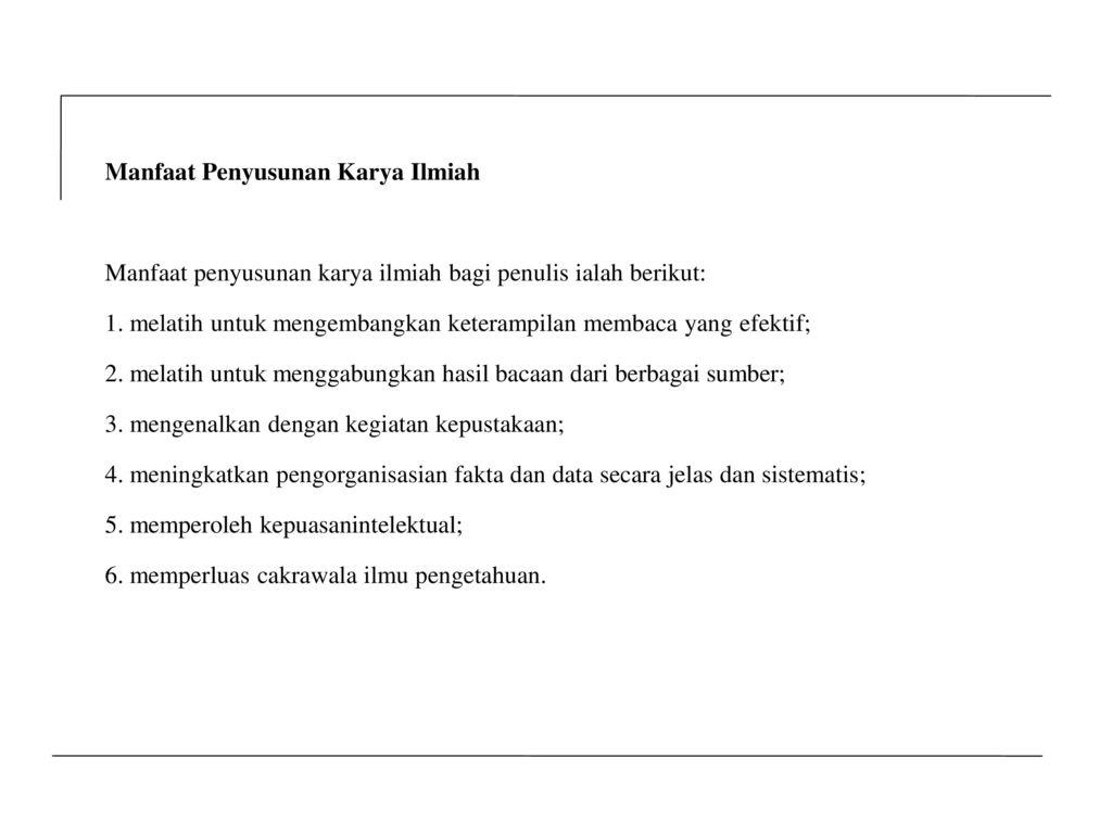 Penulisan Karya Ilmiah Oleh H Agus Nero Sofyan Drs M Hum Ppt Download