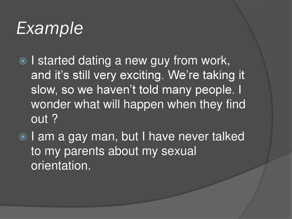 Gay dating taking it slow
