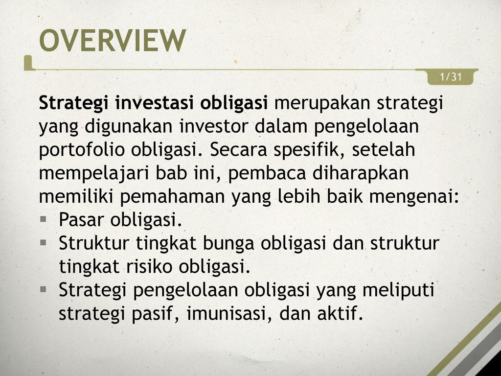 Strategi perdagangan obligasi aktif termasuk |
