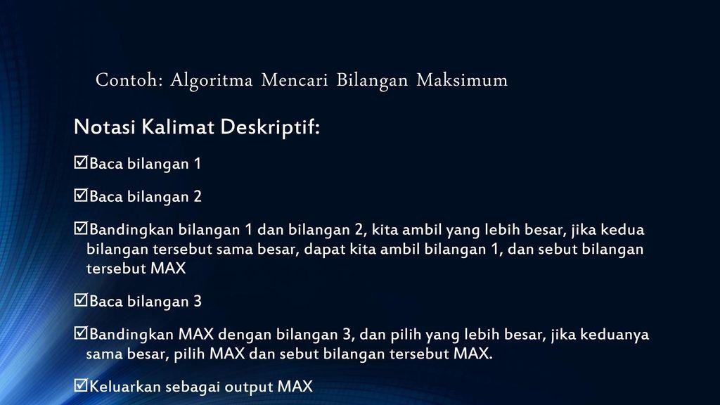 Algoritma Dan Pemrograman I Ppt Download