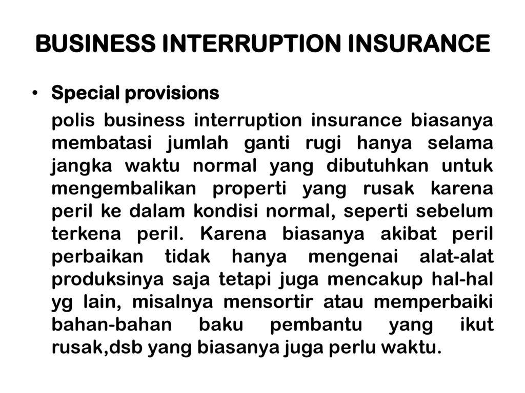 Asuransi Terhadap Kerugian Tidak Langsung Ppt Download