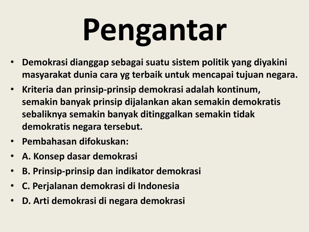 Bab V Demokrasi Indonesia Ppt Download