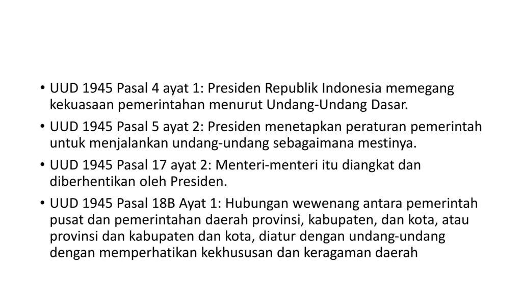 Tugas Presiden Sebagai Kepala Negara Ppt Download