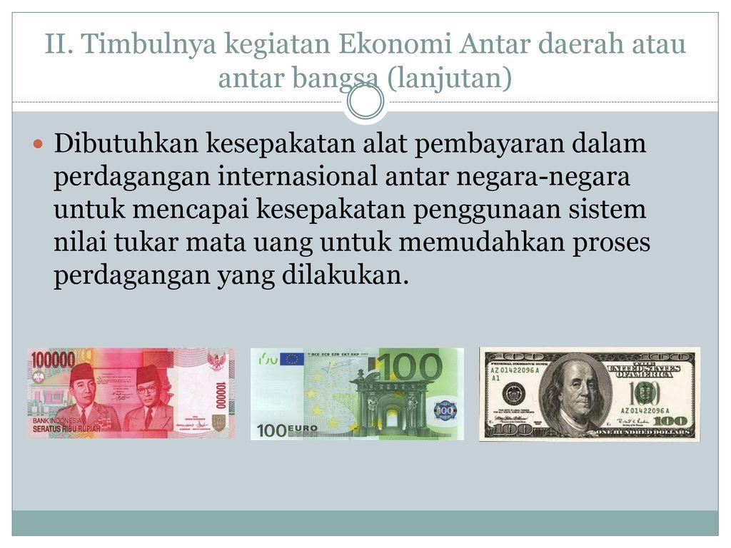hubungan nilai tukar mata uang dengan perdagangan internasional