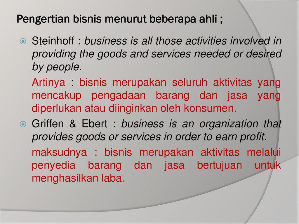 Apa itu Aktivitas Bisnis? Definisi dan penjelasannya.