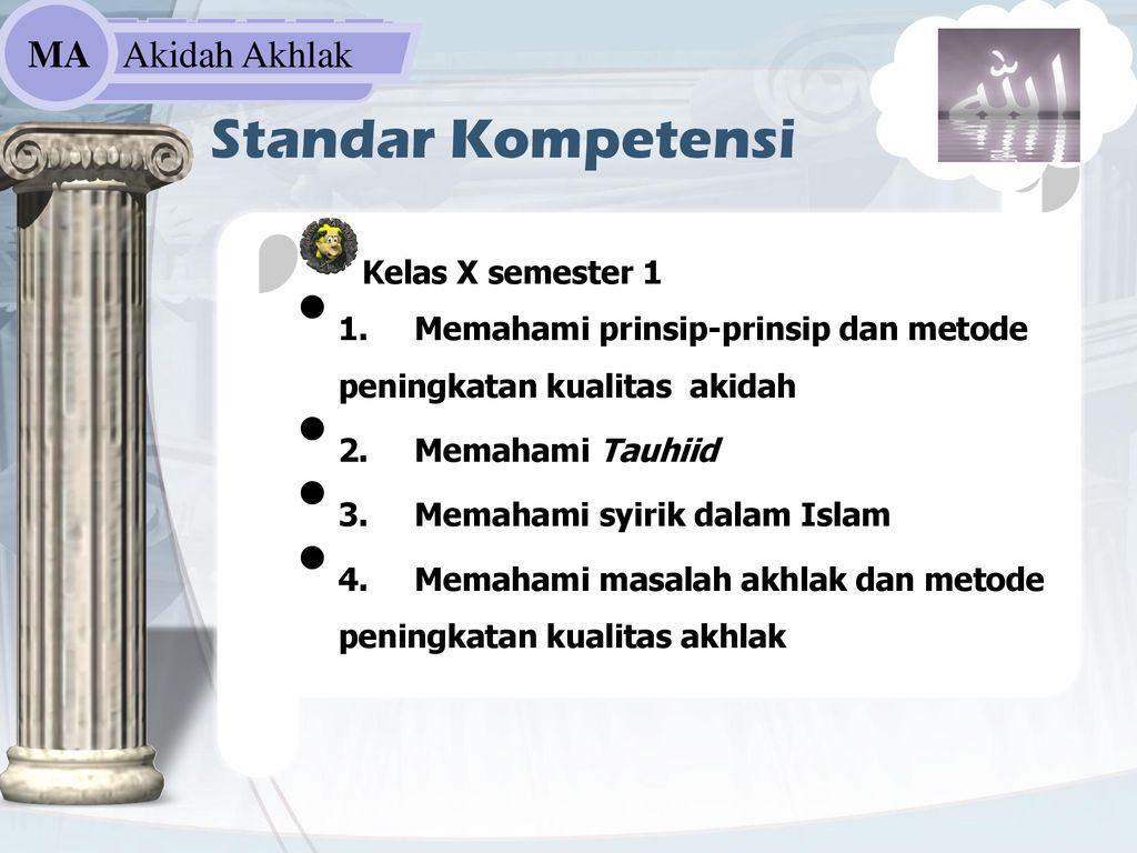 Akidah Akhlak Madrasah Aliyah Ppt Download