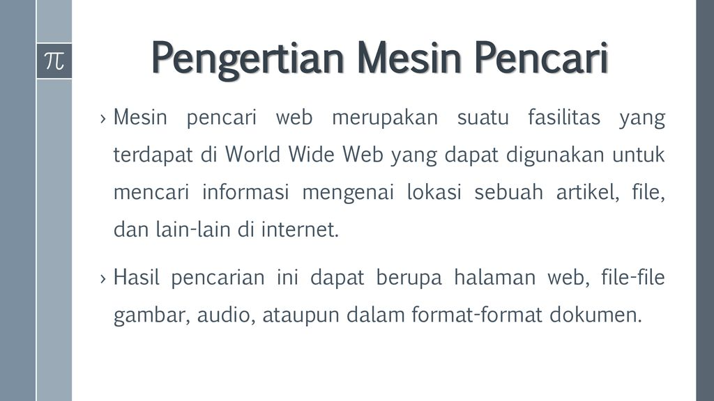 Web Search Engine (Mesin Pencari Web) - ppt download