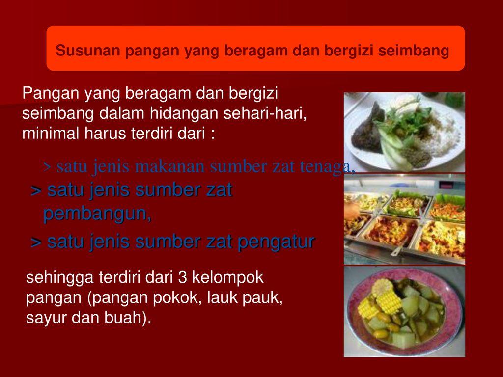 Gizi Makanan Kesehatan Tubuh Ppt Download