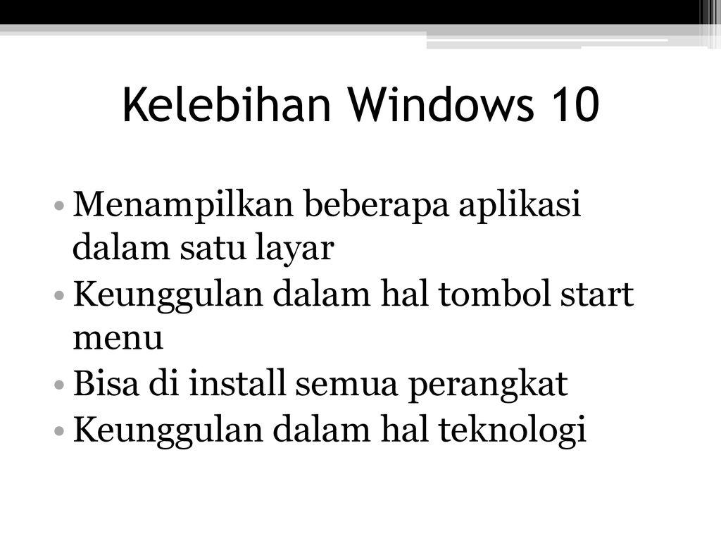"""SISTEM OPERASI """"WINDOWS 10"""" - ppt download"""