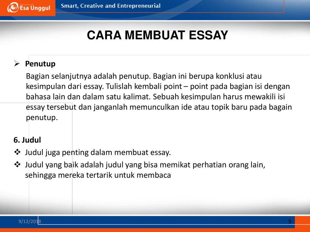 Essay Untuk Plh Pertemuan Ppt Download
