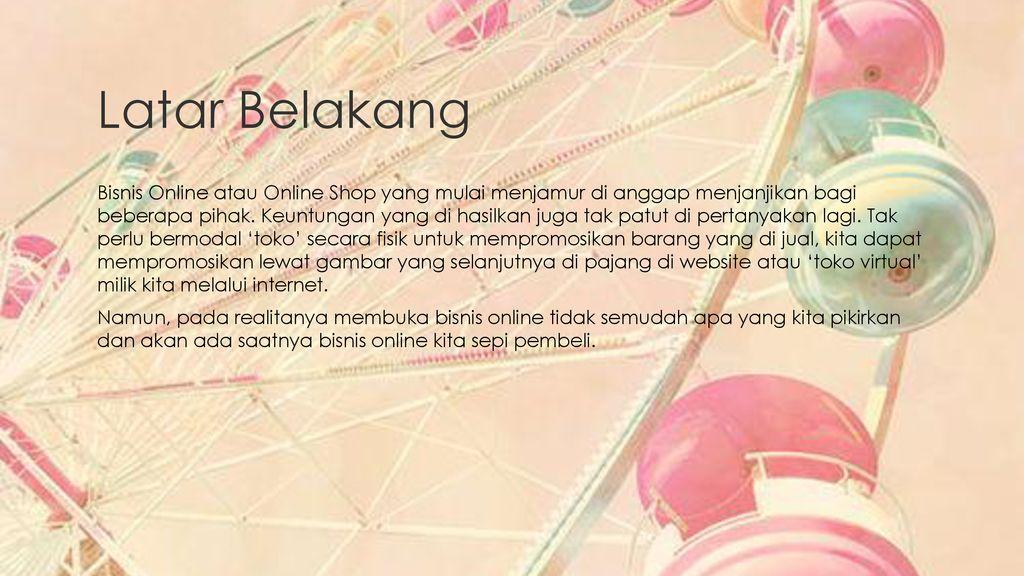 Online Shop Sepi Pembeli Ppt Download